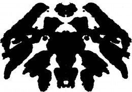 This is the same pattern turned upside down and it can reveal other things from the unconscious to the same person. In the text, this is the wolf blot.